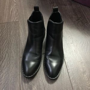 Zara studded detail flat ankle boots